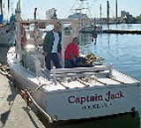 Captain Jack's authentic working lobster boat.