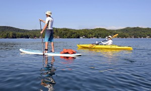 Try kayaking or Stand Up Paddleboarding on your vacation to Midcoast Maine!