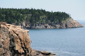 The rocky coast of Maine and its islands in Penobscot Bay.