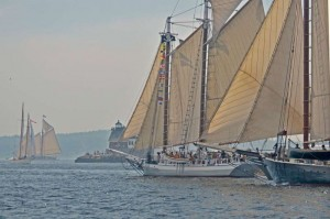 37th Annual Great Schooner Race July 5, 2014. Boats race from Islesboro to Rockland. Photo by Bob Angell