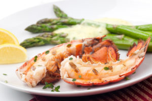 What to eat in Maine - Grilled lobster dinner