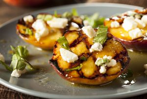 Grilled peaches at a great local Rockland restaurant