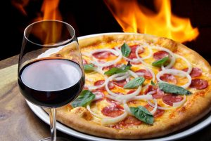 Wood fired pizza at top Rockland restaurant