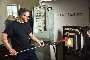 Glassblowing, one of the top things to do in Rockland this spring