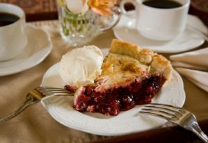 pie and coffee at Berry Manor Inn