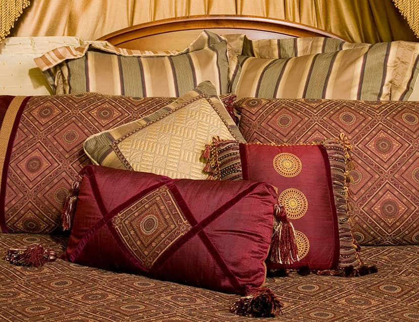 Pile of pillows under soft canopy in Room 11