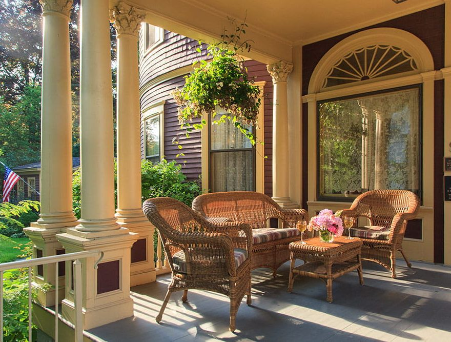 Sitting area on the porch